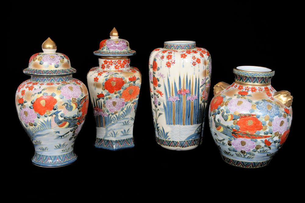Decorative Japanese Vases Ft Bifl Set Stern